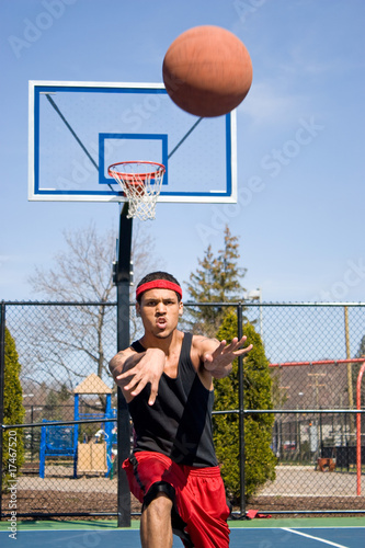 Man Passing the Basketball
