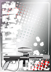paintball silver poster background 1