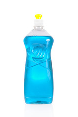 Liquid detergent bottle for dish washing isolated on white