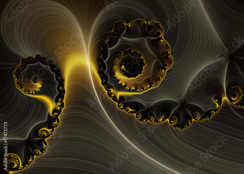 Fotobehang Fractal waves Detected