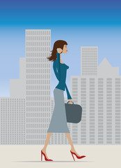 businesswoman in city