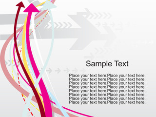 colorful arrows pattern stripes with sample text