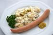 canvas print picture - Würstchen mit Kartoffelsalat