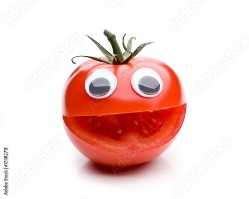 eine lachende tomate querformat von unpict lizenzfreies foto 17482711 auf. Black Bedroom Furniture Sets. Home Design Ideas