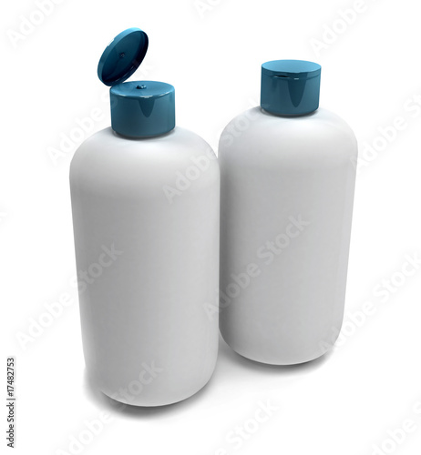 Bathroom bottles isolated