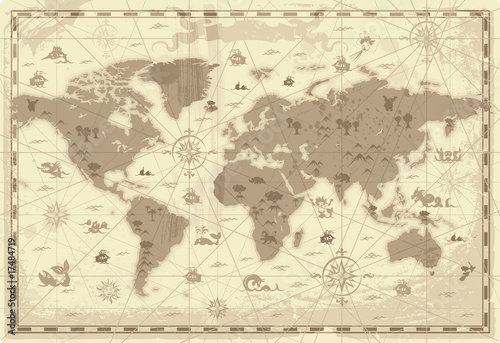 Ancient World map © Ildogesto