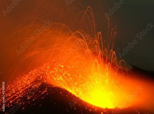 Leinwandbild Motiv Volcanic eruption