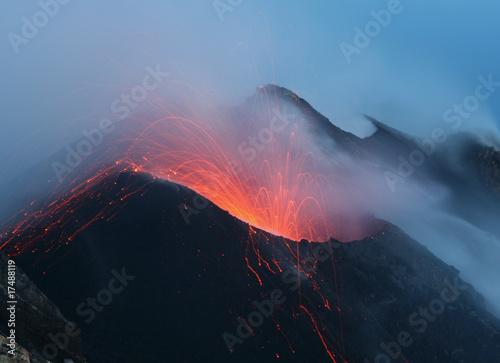 Stromboli im Morgengrauen