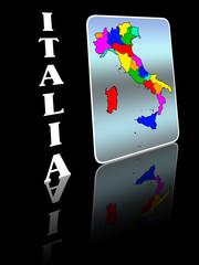 Italia: Carta geografica su tessera