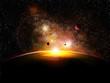 espace et planetes avec constelatin - 17490724