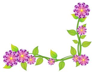 hermosa guarda floral y romantica