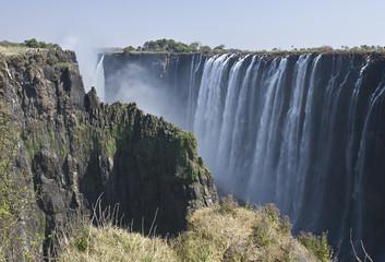 Victoria Falls in the Zambezi River in Zambia