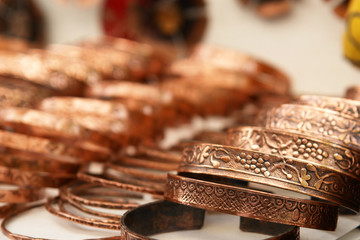Handmade traditional copper bracelets