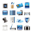 bank, business, finance and office icons vector icon set