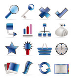 Internet and Web Site Icons - Vector Icon Set poster