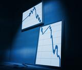 financial stat decrease poster