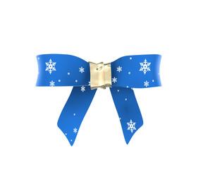 Schleife / Geschenkband mit Eiskristallen