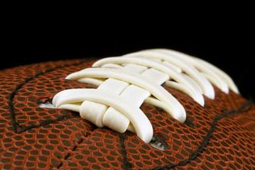 Close up of american football ball