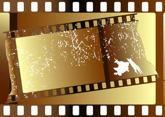 Film strips  grunge on white background for design
