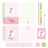 Design elements for notebook and other school accessories