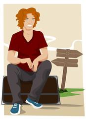 cartoon character waiting