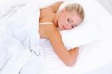 Fototapety Blonde beautiful woman sleeping