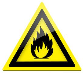 Warnung feuergefährliche Stoffe (BGV A8 W 01)