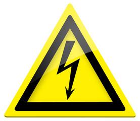 Warnschild - Warnung vor gefährlicher elektrischer Spannung
