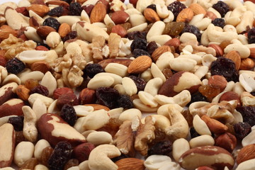 fruit and nuts.