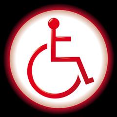 Icône de personne handicapée