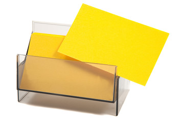 Blank Yellow Business / name card