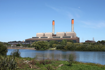 Coal Power Station in Huntly, New Zealand