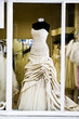 wedding dress in shop window