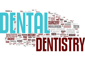 Dental related words collage