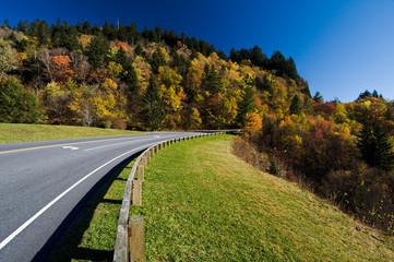 Road through Smoky Mountains National Park
