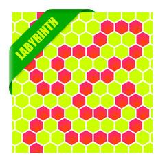 labyrinth mit schleife grün