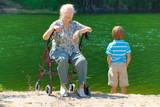 Grandma and grandson poster
