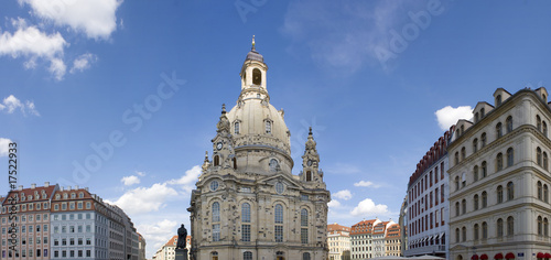panorama shot of the Frauenkirche in Dresden