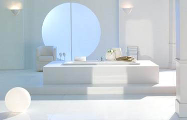 Interieur Badezimmer weiss