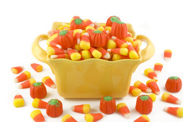 Halloween Candy In A Dish