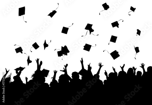 Leinwanddruck Bild Graduation Celebration