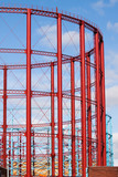 Group of three restored gasholders poster
