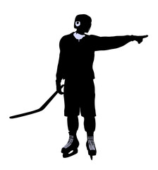 Male Hockey Illustration Silhouette