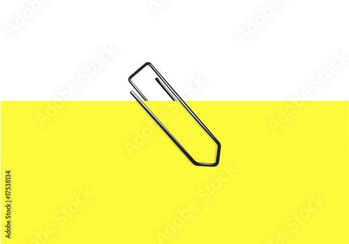 Trombone feuille jaune