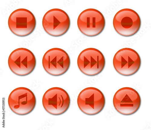 Audio Buttons Red