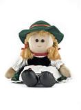 Rag doll in national (folk) Austrian costume poster