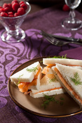 Creamcheese salmon sandwiches