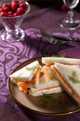 Creamcheese salmon sandwiches