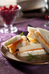 Delicious salmon and creamcheese sandwich