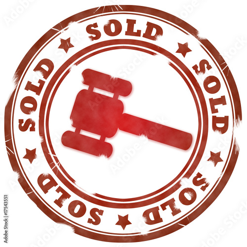 Sold red stamp